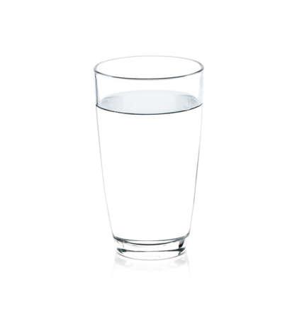Glas Wasser isoliert auf wei�em Hintergrund Lizenzfreie Bilder