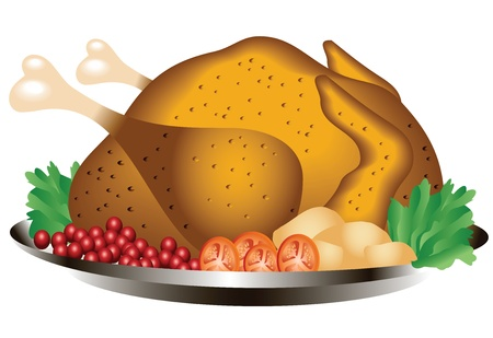 Image for roast chicken deployed creating graphics  Vector