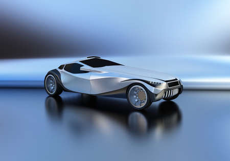 Individual design of the sports car.