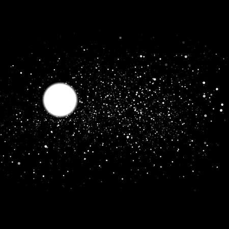 Night sky with stars and nebula, dark background. Stock fotó