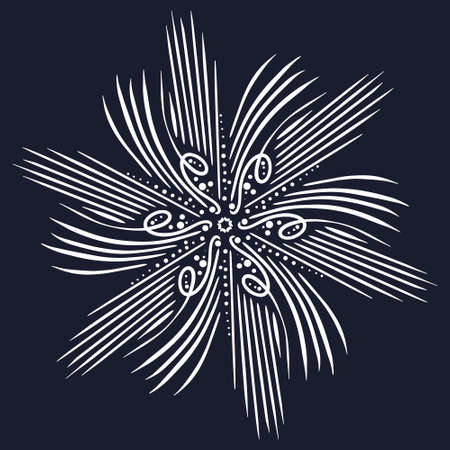 Radial pattern for the texture or basic design of the site in the form of an ancient sun Illusztráció