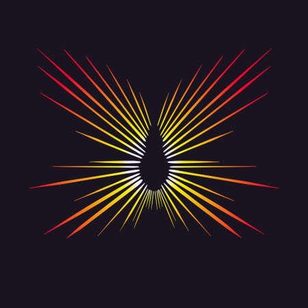 Vector flash of a star, explosion, or sun