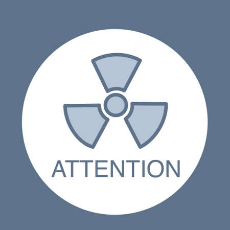 Radiation  for medical subjects. Vector image