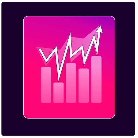 vector growth progress arrow on box Illusztráció
