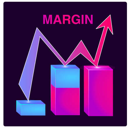 Income growth graph, return on investment chart, budget fund plan, revenue increase, accounting report, ascending chart, money bag income, pension saving account, business and finance vector flat icon Illusztráció