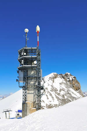 communication tower: The communication tower of mount Titlis