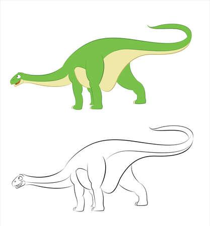 Vector funny Diplodocus Stock Vector - 17216164