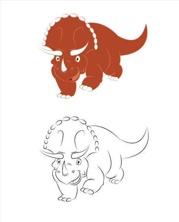 Triceratops Stock Vector - 17216290