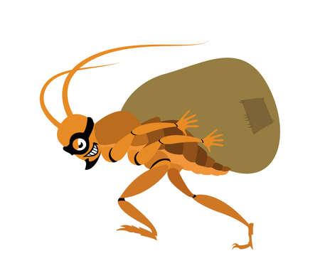 Cockroach thief Stock Vector - 17354444
