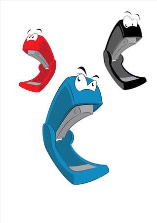 stapling: Cartoon Stapler Illustration