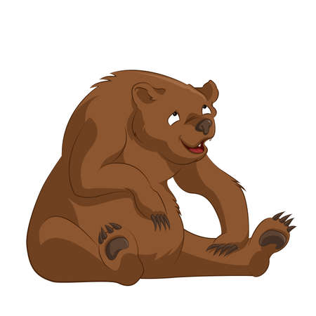 image of funny cartoon brown bear