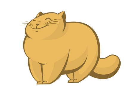 Vector image of big fat lazy cat Illustration