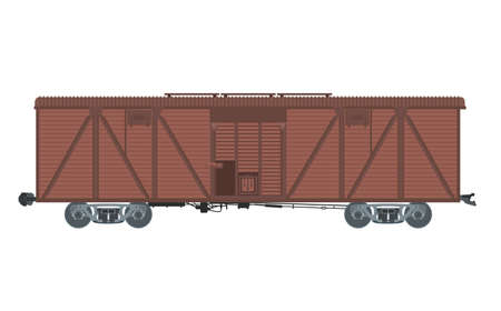 Vector image of brown big covered waggon Vector