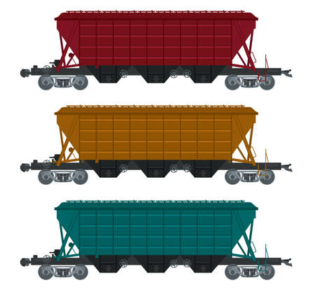 Vector image of collection of freight car Stock Vector - 19481028