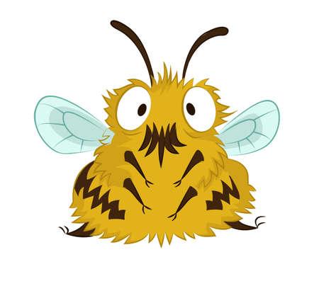 traits: image of big cartoon funny bee