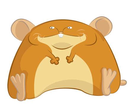 image of fat cartoon funny hamster royalty free cliparts vectors