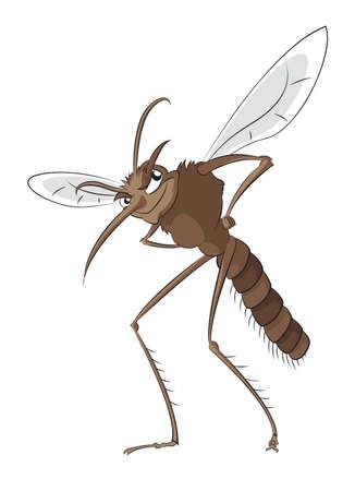 bloodsucking: image of big evil bad mosquito Illustration
