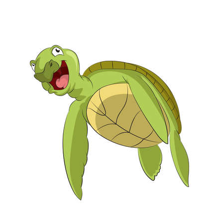 image of funny cartoon smiling turtle Vector