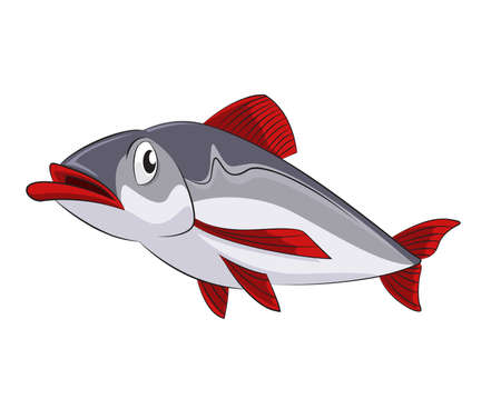 image of funny cartoon sad fish Stock Vector - 21765560