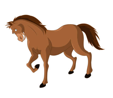 image of funny cartoon smiling horse