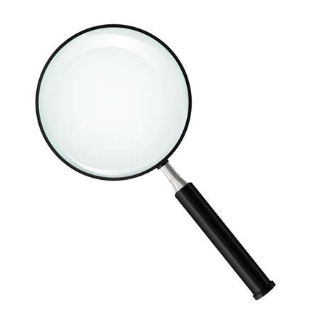 image of a metallic Magnifying glass Stock Vector - 21765565