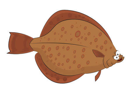 image of funny cartoon smiling plaice