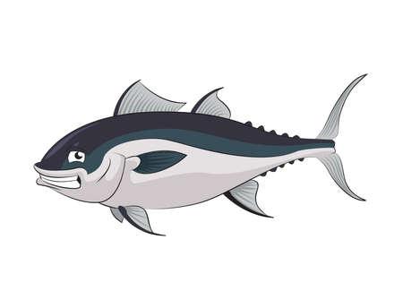 tuna: image of funny cartoon smiling tunny