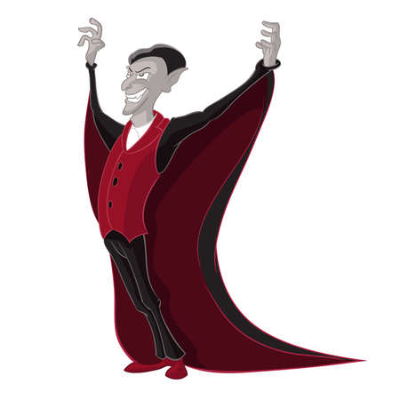 Vector image of funny cartoon angry Vampire Vector