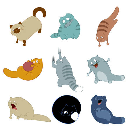 Vector image of collection of cat icons Stock Vector - 23076728