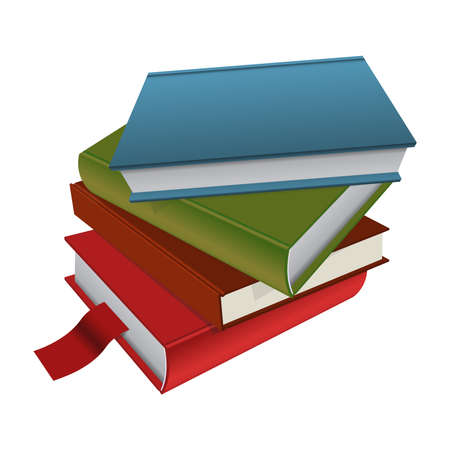 hardcover: Vector image of stack of the books Illustration