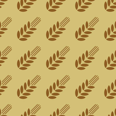 vector image of seamless pattern with wheat