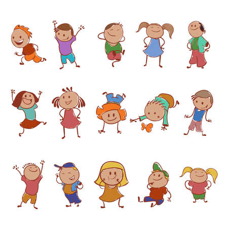child's: Collection of icons with the caretoon children