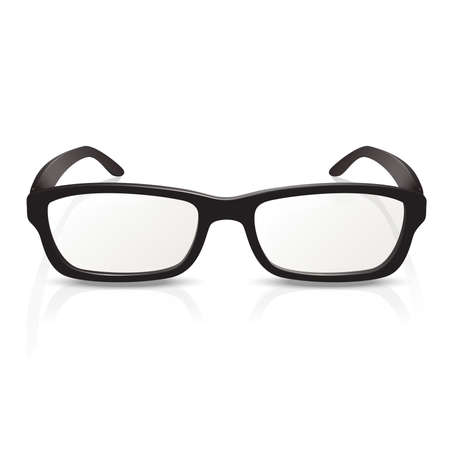 Vector image of photorealistic black  big glasses