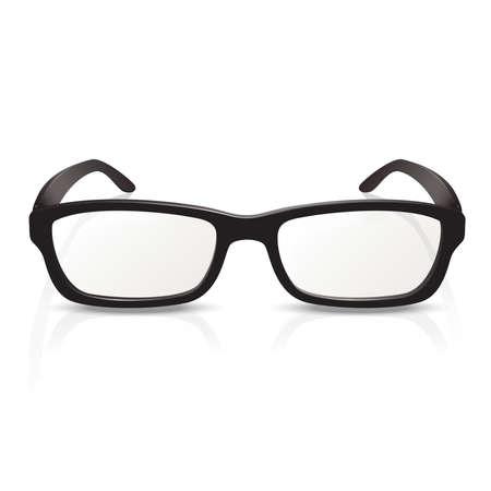 eyewear fashion: Vector image of photorealistic black  big glasses