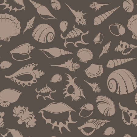 Vector image of seamless pattern with shell Vector
