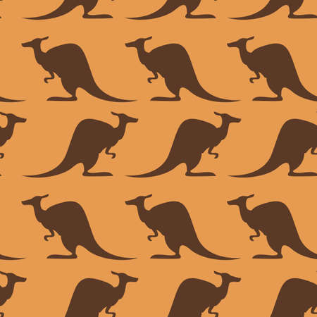 Vecdtor image of seamless pattern with kangaroo Vector