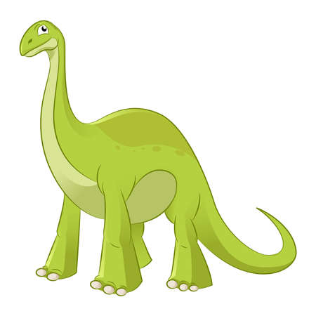 diplodocus: Vector image of  an cartoon funny diplodocus