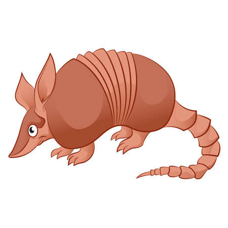 image of an cartoon smiling Armadillo Vector