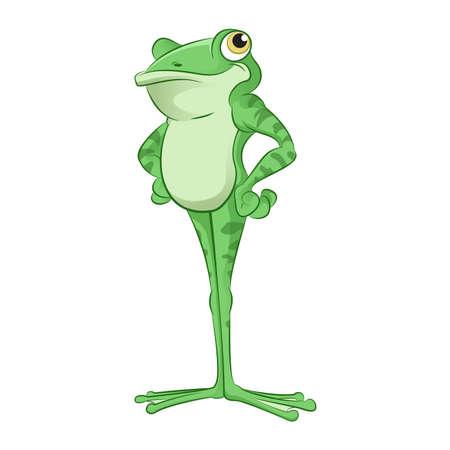leapfrog: verde rana de la historieta