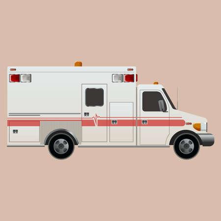 ambulance car: Vector image of an white car Ambulance Illustration