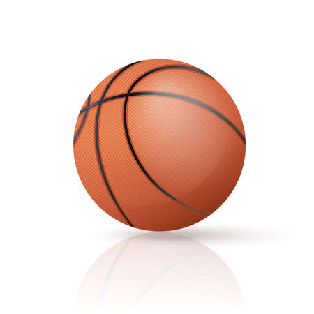 image of an realistic red Basketball Vector