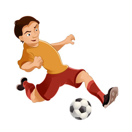 image of a cartoon soccer player