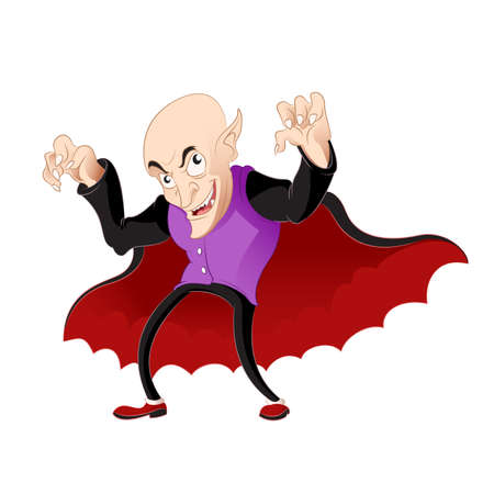 vlad: Vector image of a smiling Cartoon vampire