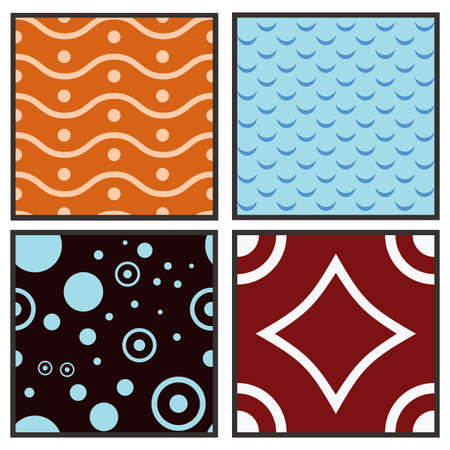 collection of abstract seamless pattern Illustration