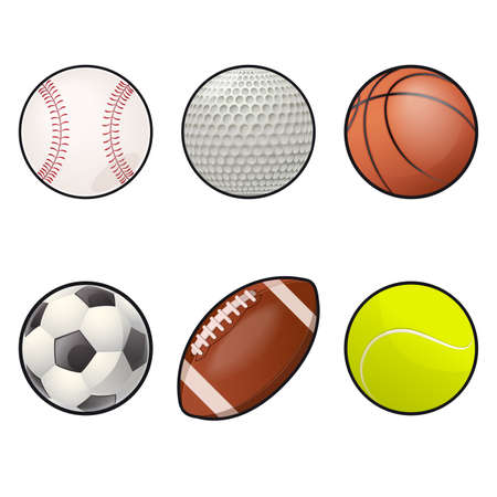 collection of Ball icons Vector