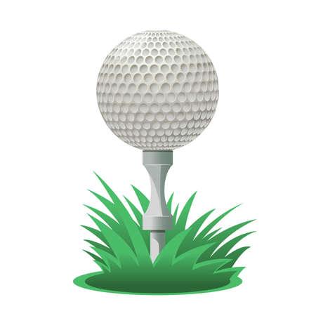 cartoon golf: a cartoon Golf ball