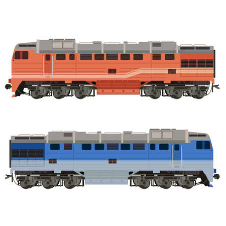 covered wagon: real-looking shiny Locomotive