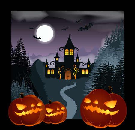 helloween: Helloween Achtergrond Stock Illustratie