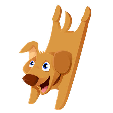 jack russell: Vector image of a funny Cartoon Puppy
