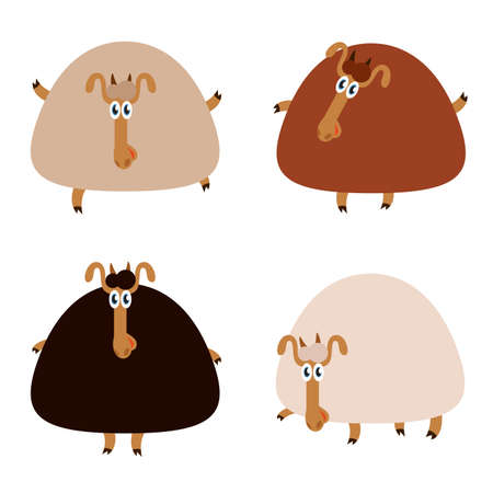 Vector image of an collection of sheep